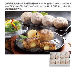 蒼コース宮崎県産合挽き肉のチーズ入り生ハンバーグ