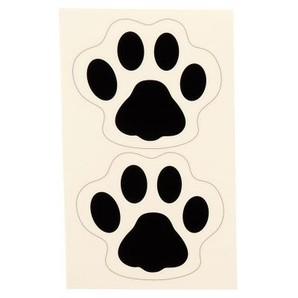 足型誘導ステッカー 犬型・ブラック