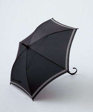 レースプリント/スリム晴雨兼用長傘