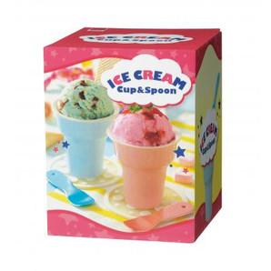 アイスクリームカップ&スプーンセット