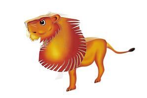 ペーパークラフト ライオンさん